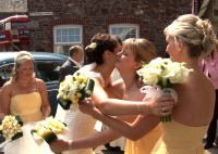 Samara & Mike wedding video customer in Brecon Powys